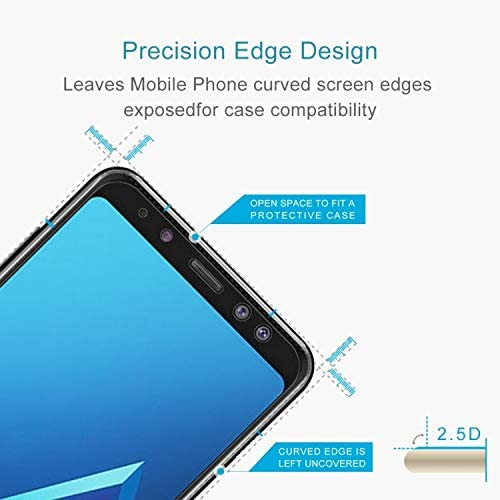 2018 0.26mm 9H Surface Hardness 2.5D Curved Edge Tempered Glass Screen Protector Glass Film DESHENG Clear Screen Protector 100 PCS for Galaxy A8