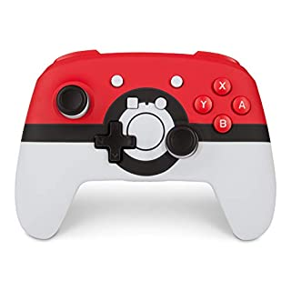 PowerA Enhanced Wireless Controller for Nintendo Switch: Pokemon Poke Ball Red