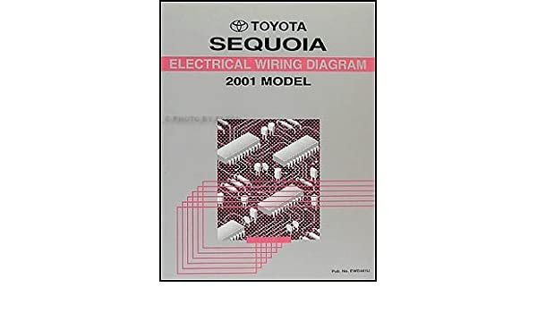 2001 toyota sequoia wiring diagram manual original amazon com books toyota  prius wiring diagram toyota sequoia wiring diagram