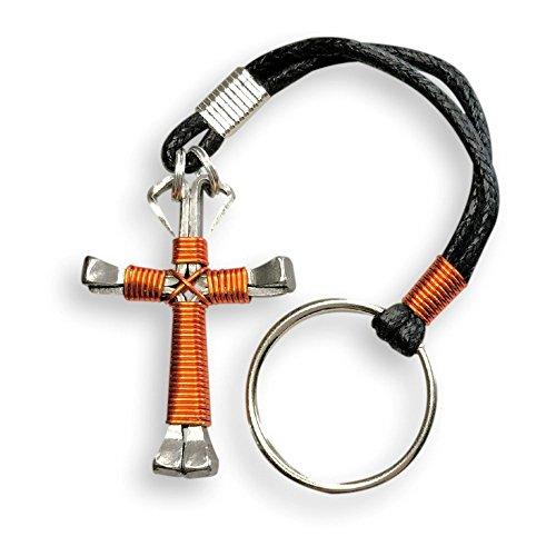 Horseshoe Nail Cross Keychain - 2