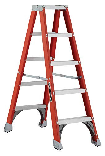 Louisville Ladder FM1505 Fiberglass Twin Front Ladder, 5-Feet, 300-Pound Duty Rating
