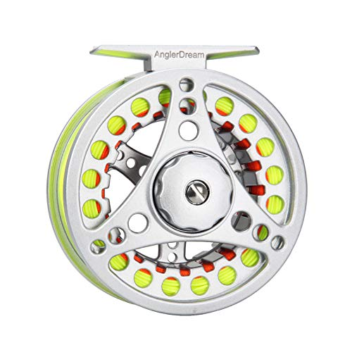 ANGLER DREAM AnglerDream 1 2 3 4 5 6 7 8WT Fly Reel with Line Combo Large Arbor Aluminum Fly Fishing Reels