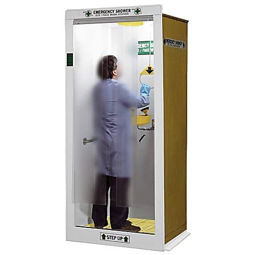 HEMCO 16601 Emergency Drench Shower/Decontamination Booth, White