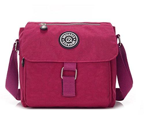 Lightweight TianHengYi Messenger Cross body Square Casual Teen Bag Shoulder Flap Girls Small Burgundy Nylon Bag HxUPqgHw
