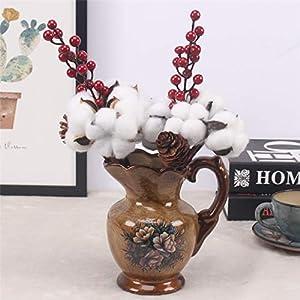 Artificial Cotton Flower 2 Colors Single Branch Simulation Flower DIY Wedding Decoration for Home Party Office 1 Pcs,D 3