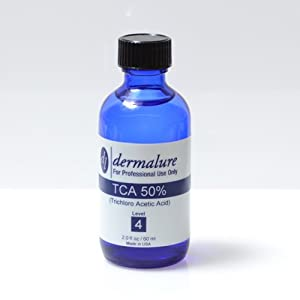 Trichloroacetic Acid - TCA Peel 50% Medical Grade 1oz. 30ml Pro Size (Level 4 pH 0.6) by Dermalure