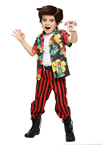 Ace Ventura Toddler Costume with Wig 4T Red -