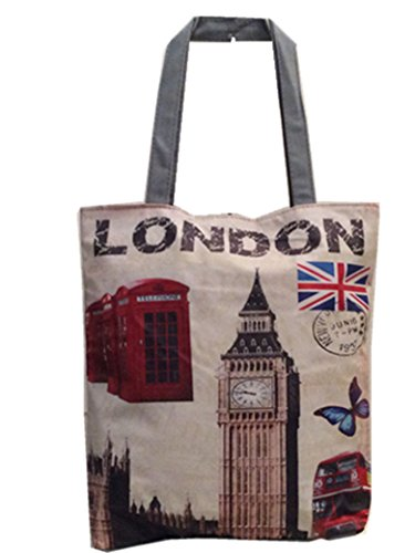 Handbags Handbags Women's Phone girl's Novelty Box Souvenir London Printed Shopper Ben Big Lady Skyline Tote AHYqUYa