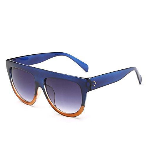 Mujer 9 Leopardblack362 Unas Tea TIANLIANG04 Hombre Enormes Gafas Gafas Frame Vintage G De Sol C8 De Tonos Blue Uv Bastidor Sol Viajes Gradiente YTAnagT