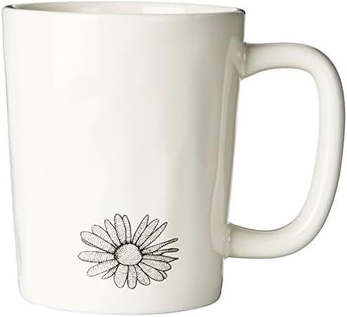 Life is good Artisan Engraved Daisy Mug (Simply Ivory)