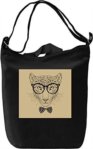Leopard Borsa Giornaliera Canvas Canvas Day Bag| 100% Premium Cotton Canvas| DTG Printing|