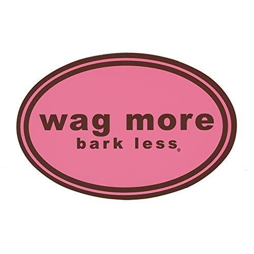 CloudStar Wag More Bark Less Car/Office/Refrigerator Magnet - Pink Background with Brown Type
