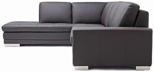 Baxton Studio Callidora Brown Leather Sectional Sofa - a good cheap living room sofa