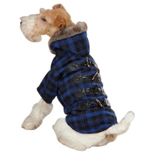Zack & Zoey Fur Tipped Toggle Coat, X-Small, Blue
