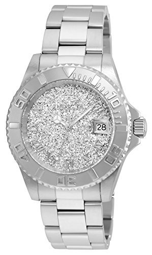 Invicta Women's Angel Gold Quartz Watch with Stainless-Steel Strap, Silver, 20 (Model: 22706)