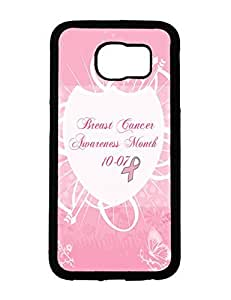 AngsCase & Samsung Galaxy S6 Back Designs Printing Case Cover Breast Cancer Theme by runtopwell