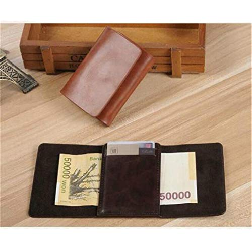 Cuir Brun De À cartes Sevenfly Avec Porte Pu Pour Pince Billets Portefeuille En Crédit Z0xOfq