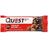 Quest Nutrition Chocolate Hazelnut Protein Bar, High Protein, Low Carb, Gluten Free, Soy Free, Keto Friendly, 12 Count