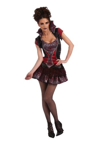 Rubie's Costume Deluxe Adult Love Bites Costume, Black, Standard (Love Bite Vampire Costume)