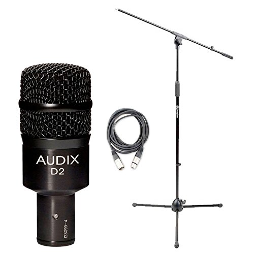 Price comparison product image Audix D2 Drum / Instrument Microphone w / Shock Mount Mic Clip,  Boom Stand,  and XLR Cable