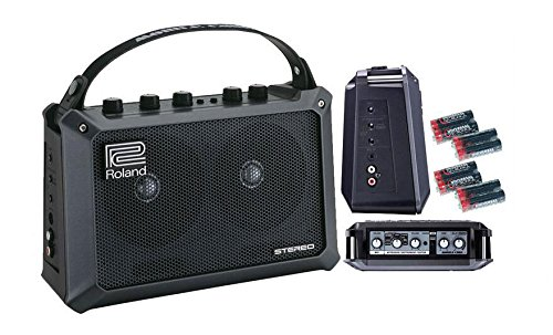 Roland Mobile Cube Battery-Powered Stereo Amplifier with Free 8 Universal Electronics AA Batteries by Roland
