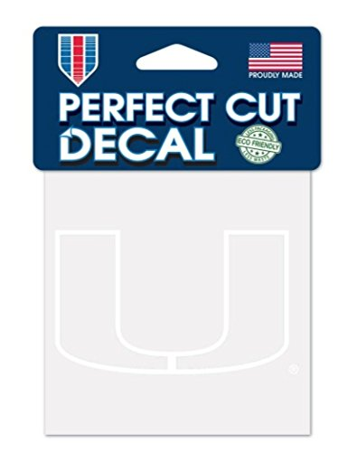 WinCraft NCAA Miami Hurricanes 4x4 Perfect Cut White Decal, One Size, Team Color