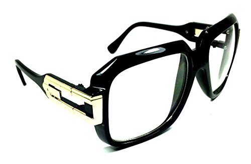 Gazelle Cosa Nostra Sunglasses w/ Clear Lenses (Black & Gold Frame, - Gazelle Sunglasses