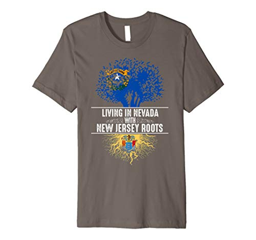 (Nevada Home New Jersey Roots State Tree Flag Shirt Love Gift)