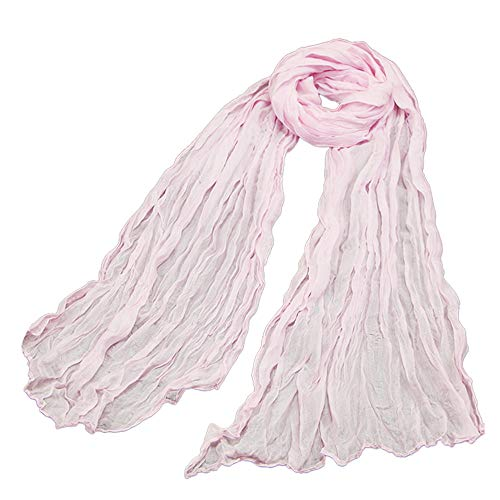 Clearance Sale ! Kshion Women Scarf Candy Color Scarf Fashion Retro Female Multipurpose Shawl Scarf (Pink) (Balinese Hat)
