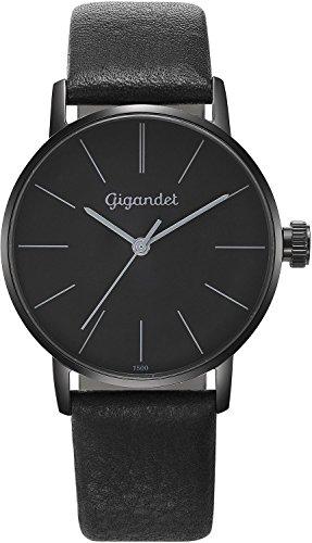 Gigandet Women's Quartz Watch Minimalism Analog Leather Strap Black G43-011