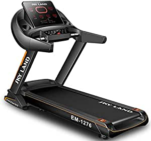 SKY LAND Automatic Foldable Treadmill with Bluetooth Speaker ,5.5 HP Peak Motor for Home Use, Auto Incline,130Kgs weight capacity, and LED ScreenEM1276, Black,Assembly Size180 x88 X152cm