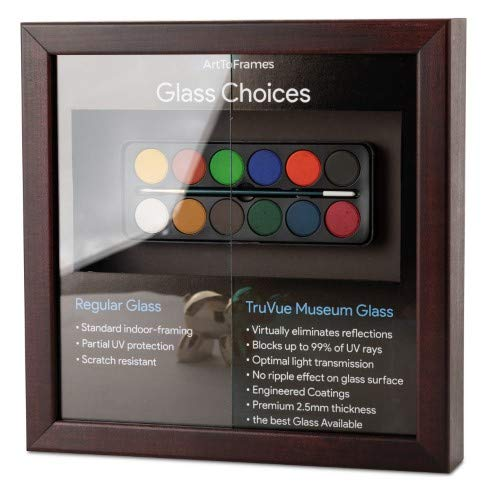 - ArtToFrames 12x16 TruVue Museum Glass for Picture and Poster Frames. (Clear)