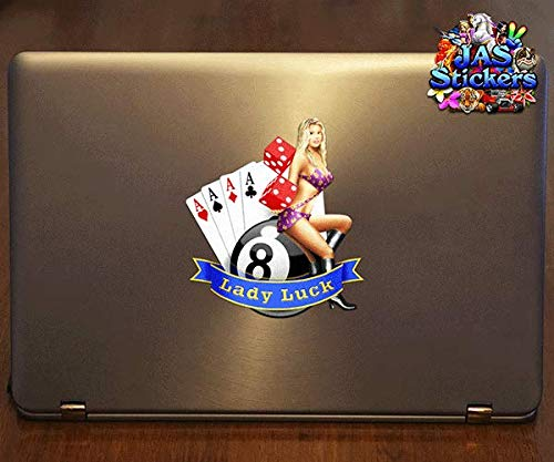 Girl Lucky Small Vinyl Sticker Pack For Laptop Caravans Trucks /& Boats ST060/_1 JAS Stickers/® LADY LUCK Funny Car Decal