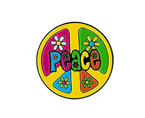 - Matt Stewart, Peace With Flowers Round, Officially Licensed, Expertly Designed ENAMEL PIN - 1.25
