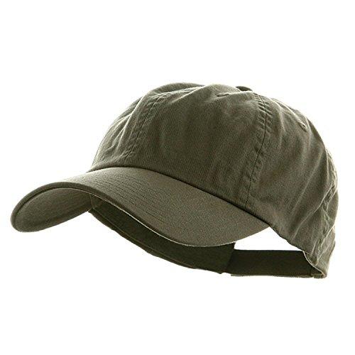 Mega Cap Low Profile Velcro Adjustable Cotton Twill Cap, Olive-One (Soft Baseball Cap)