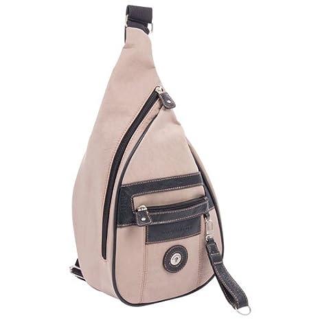 Mouflon Original FEATHERS Crossbody Sling Bag - Taupe Black Taupe  Black   Amazon.ca  Luggage   Bags 81a430fca71a7