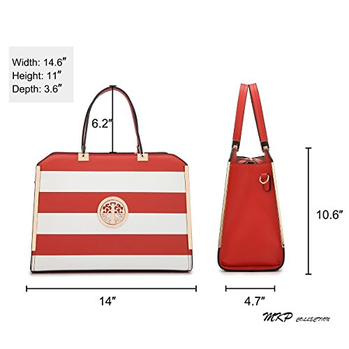 Red Purse w White Lady wallet for woman Holiday Shoulder Briefcase Satchel Trendy Designer bag Stylish gift nx6qIwZ5q