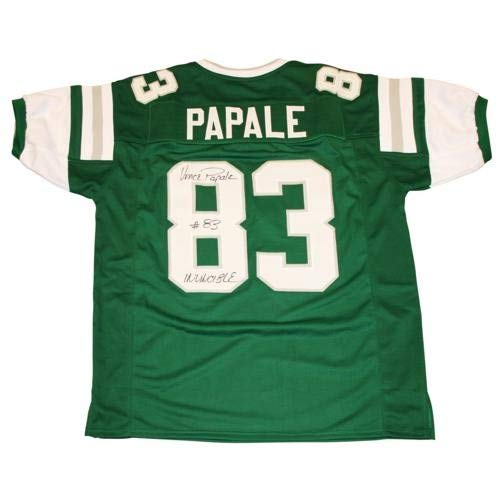 Vince Papale Autographed Signed Auto Philadelphia Eagles Green #83 Custom Jersey Invincible - Certified Authentic (Eagles Signed Green Jersey)