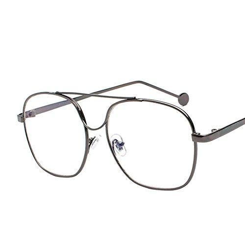 pilote marée métallique lunettes plat océan morceau soleil Verres homme lunettes de cadre de A miroir couleur Aoligei soleil de wZ4gTq7x