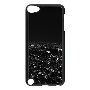 iPod Touch 5 Case Black mr00 dark bw night city building skyview LSO7705541