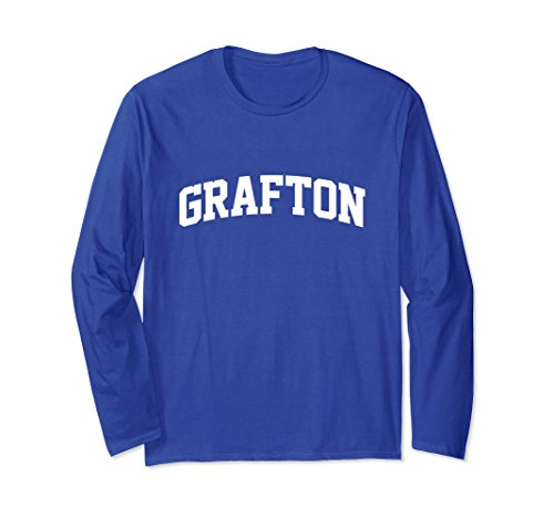 Unisex Grafton Retro Arch Long Sleeve Shirt Gift Idea Small Royal Blue
