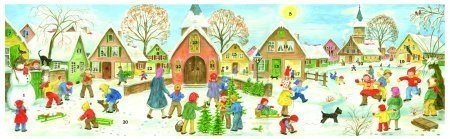 Panoramic Winter Village German Advent Calendar