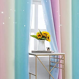 Rainbow Curtains with Sheer Girls Bedroom Rainbow Curtains with Sheer