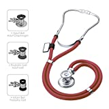 MDF® Sprague Rappaport Dual Head Stethoscope with Adult, Pediatric, and Infant convertible chestpiece - Free-Parts-for-Life & Lifetime Warranty - Burgundy (MDF767-17)