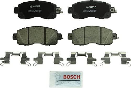 Bosch BC1650 QuietCast Premium Ceramic Disc Brake Pad Set For: Nissan Altima, Leaf, Front