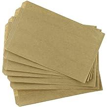 MyCraftSupplies 200 Brown Kraft Paper Bags, 5 x 7.5, Good for Candy Buffets, Merchandise