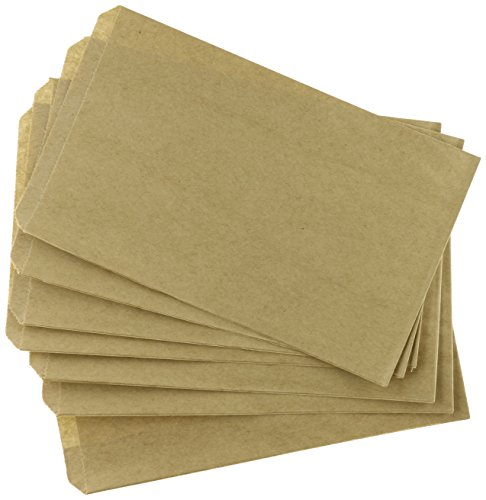 Glassine Bags Favor (My Craft Supplies 200 Brown Kraft Paper Bags, 5 x 7.5, Good for Candy Buffets, Merchandise)