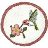 Hummingbird Pillow Punch Needle Kit - 12 Inch