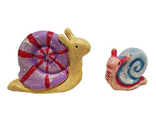 Fairy Garden Mini Glow-in-the-Dark Snail Figurines