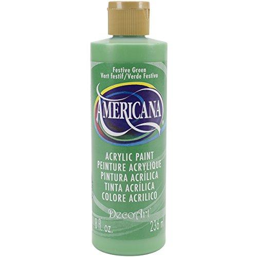 DecoArt DA227-9 Americana Acrylics, 8-Ounce, Festive Green